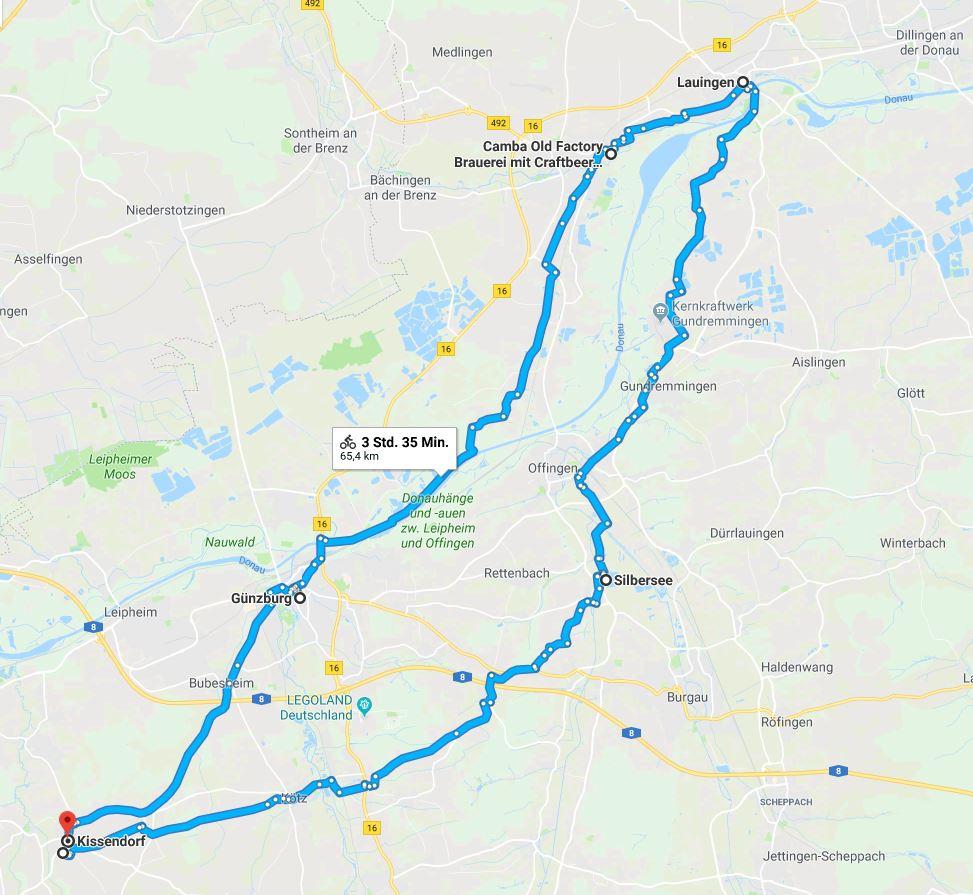 Route Fahrradtour 2018